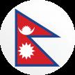 Nepal flag button