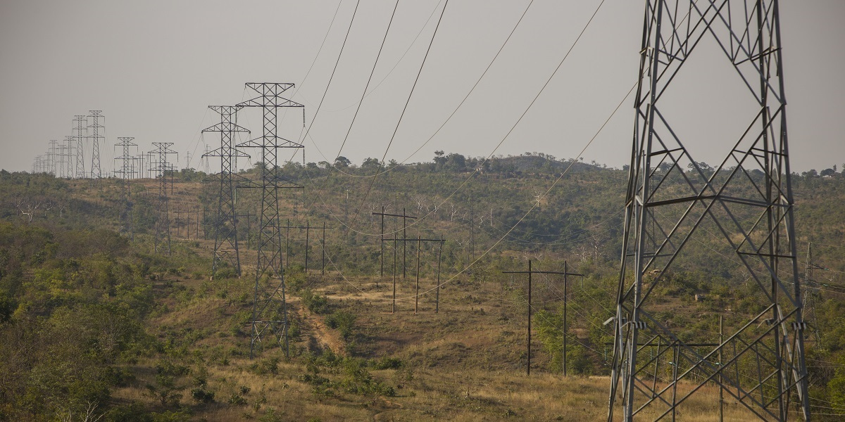 Photo of pylons and power lines stretch from the Nkula Power Station along Malawi's Shire River across the country. As part of the $350.7 million Malawi Compact, MCC is investing in upgrading electricity infrastructure and supporting reforms to boost private-sector participation in power generation.