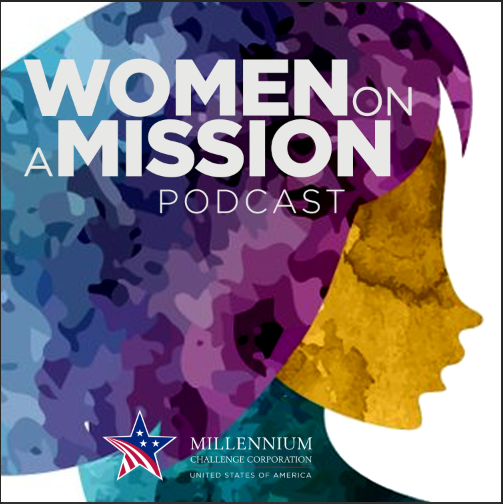 Photo of Women on a Mission Podcast logo