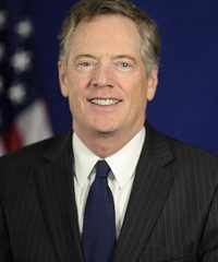 Photo of Robert E. Lighthizer, U.S. Trade Representative