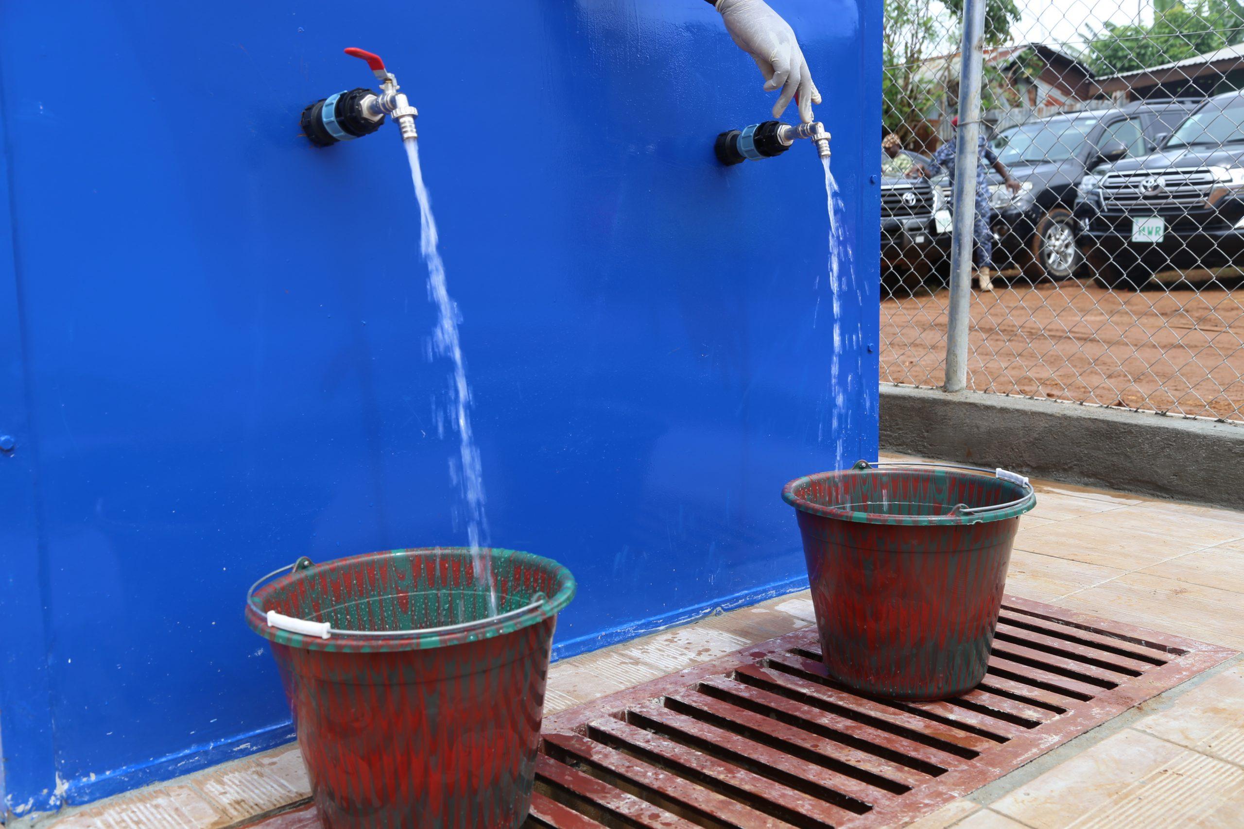 Water kiosks in Freetown, Sierra Leone