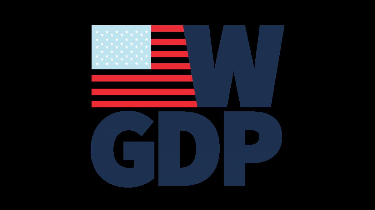 W-GDP logo with U.S. flag and the acronym WGDP (Women's Global Development and Prosperity initiative)