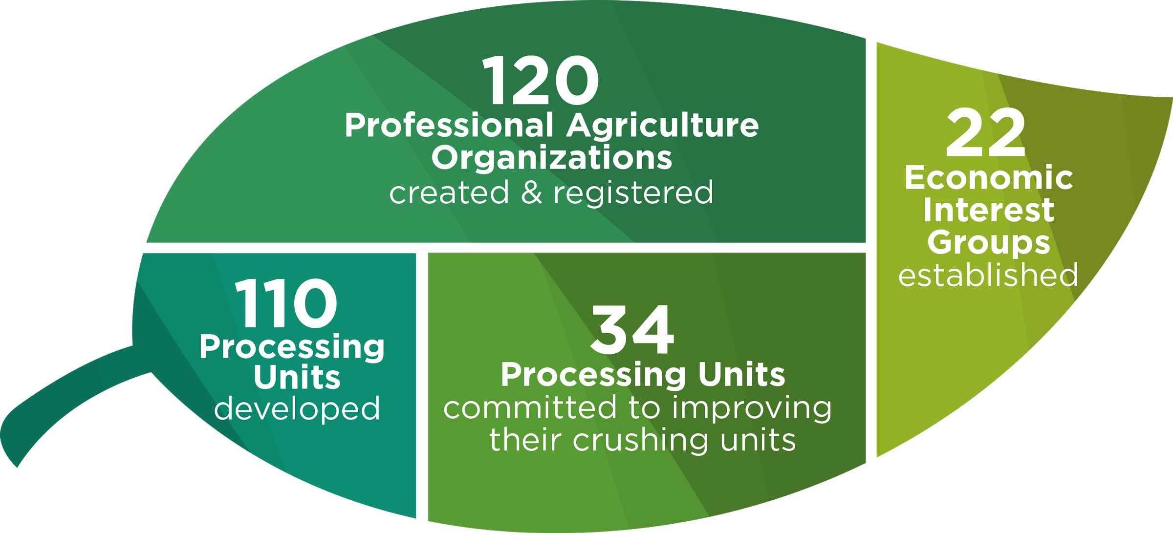 Activity results that improved market power of farmers.