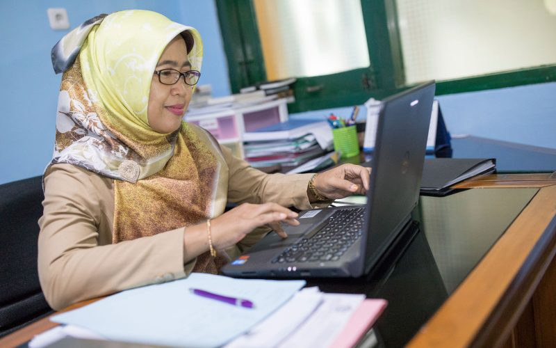 Lusiningsih is the Head of Human Resources for the Procurement Services Unit in Yogyakarta, Indonesia.