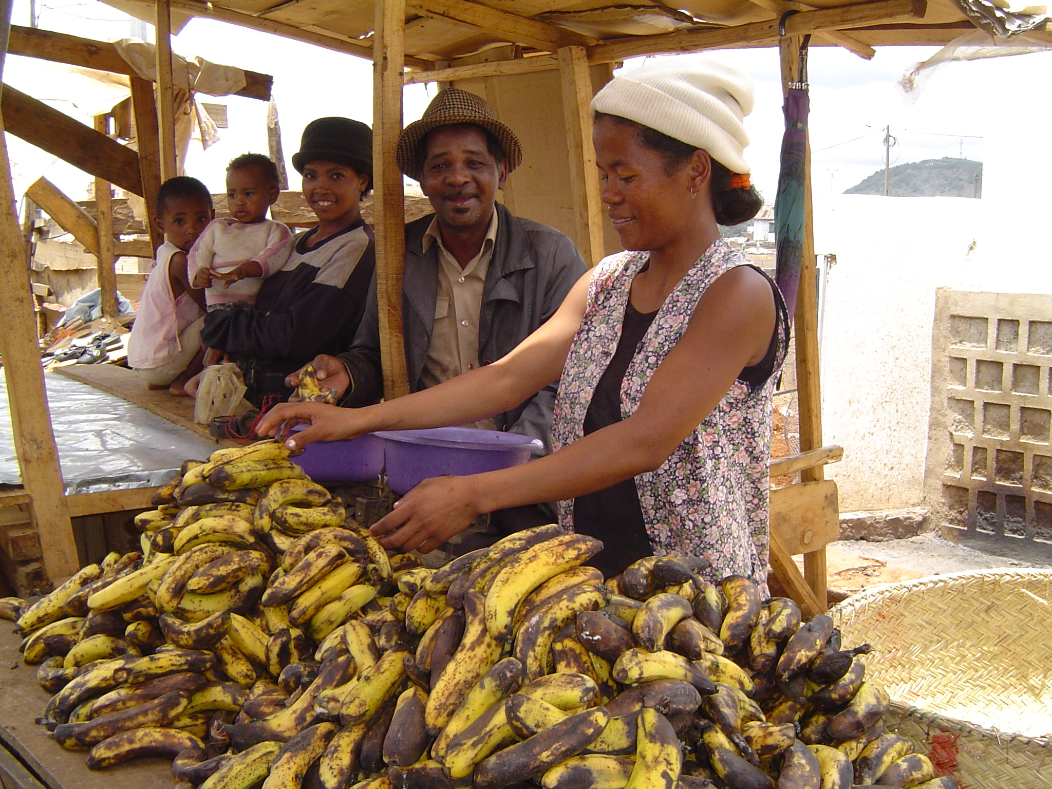 woman selling plantains
