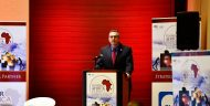MCC ACEO Jonathan Nash delivers the keynote address at the Powering Africa Summit in Washington, DC, on March 1, 2018.