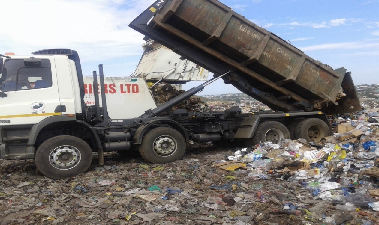 waste management truck