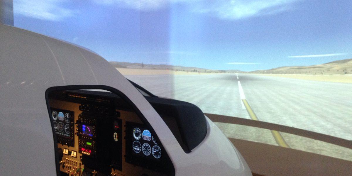 Flight simulator at the Georgia Aviation University.