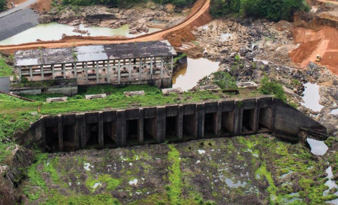 mount coffee hydropower plant before rehabilitation