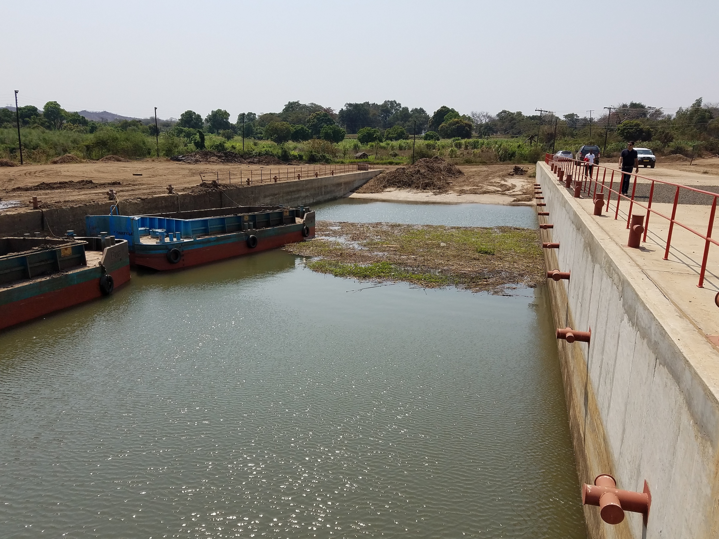 Site where compact-funded dredgers will remove sediment and vegetation from hydropower reservoirs.
