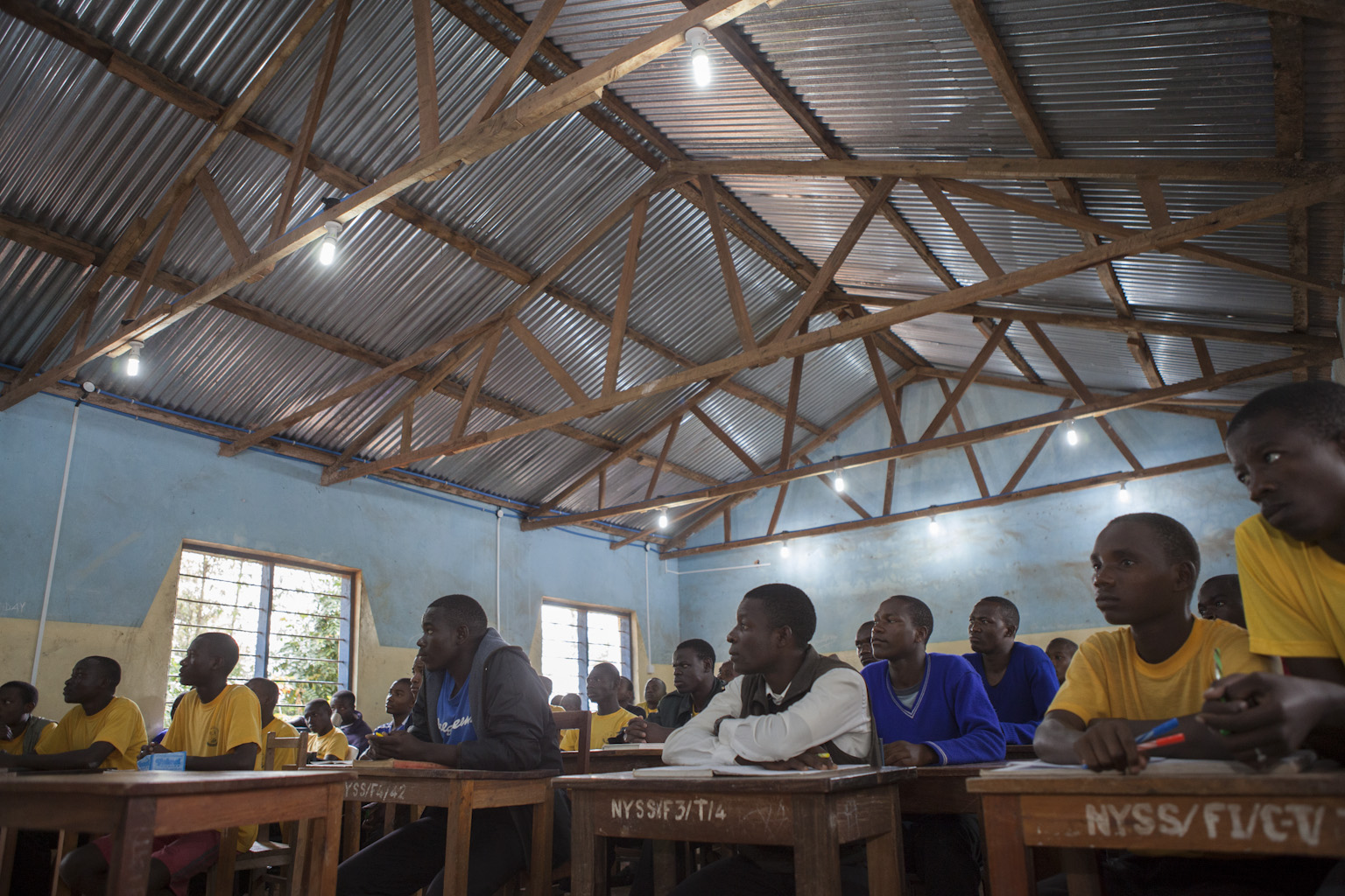 Classroom with electricity