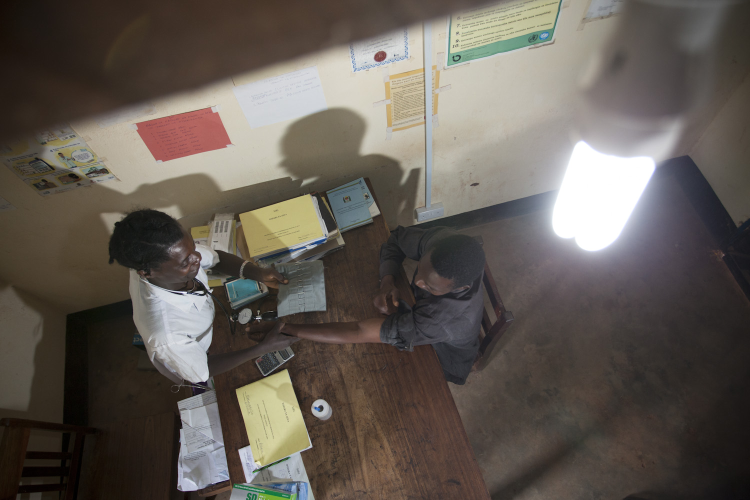 Clinic with electricity