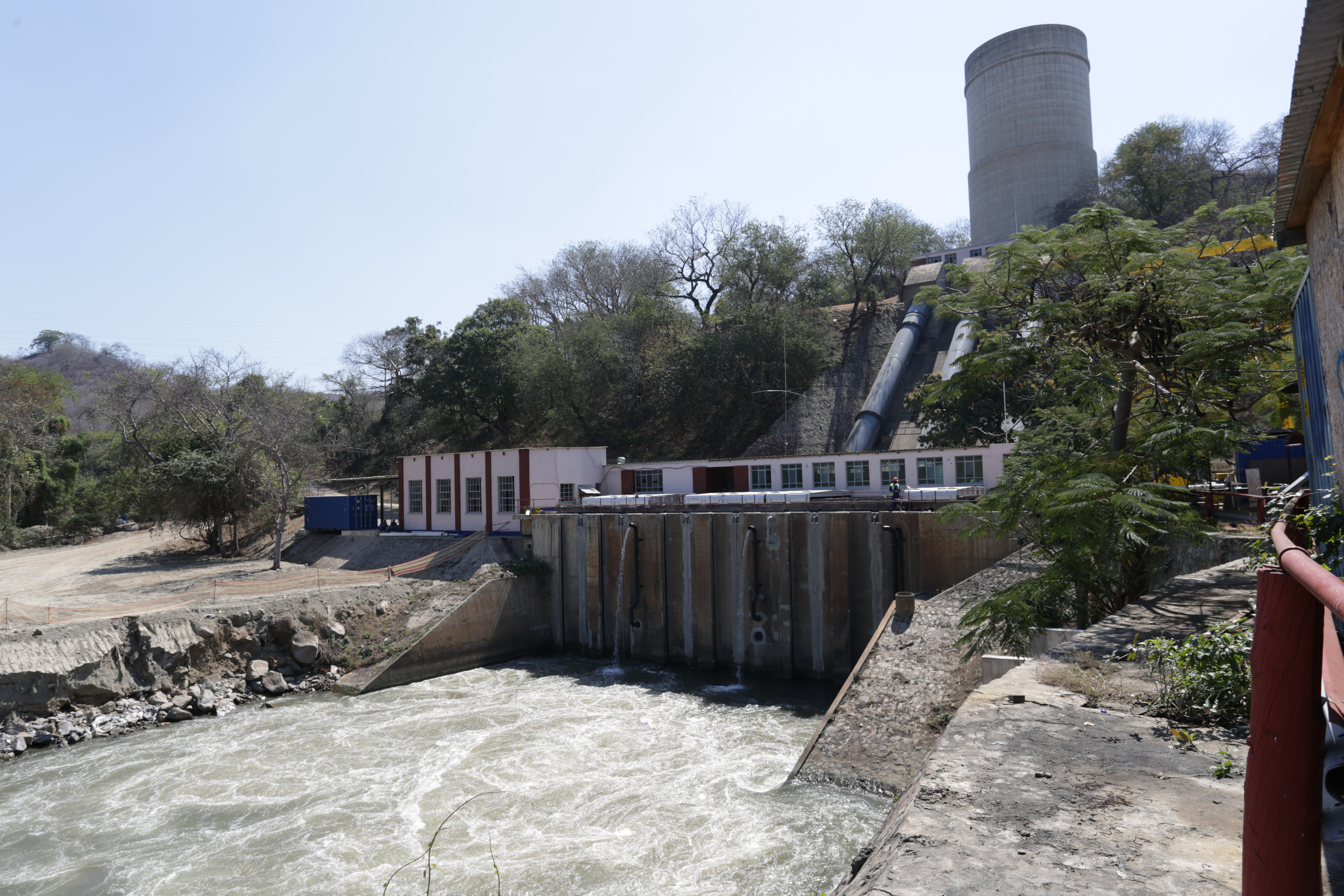 Landscape photograph of the Nkula A hydropower damn