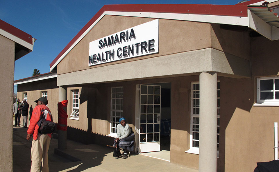 A new community health clinic in Samaria, Lesotho, is one of 138 health centers rehabilitated or built under MCC's compact with Lesotho.