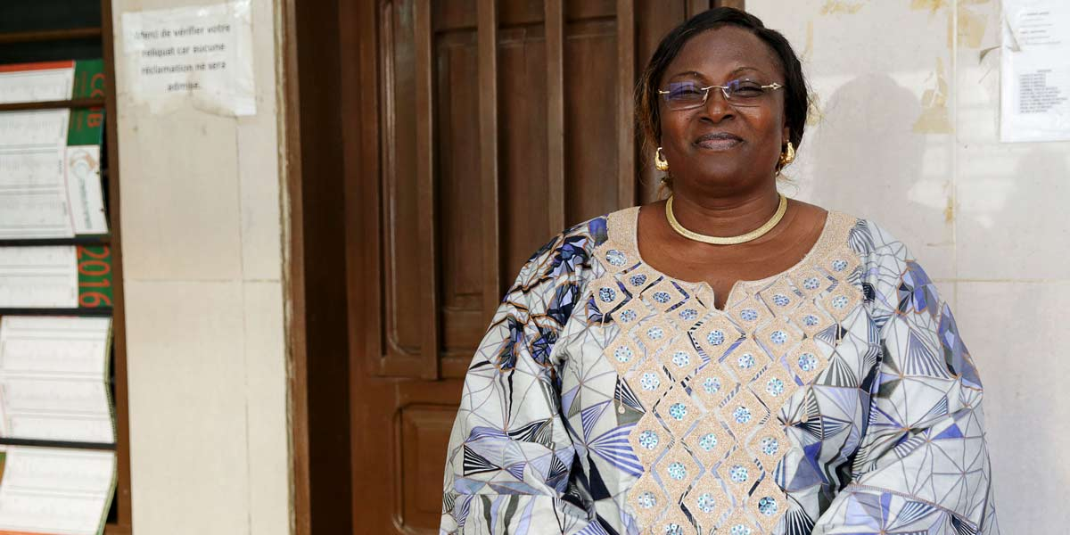 Photo: Madame Awahou Codjo, a small business owner in Cotonou, Benin.