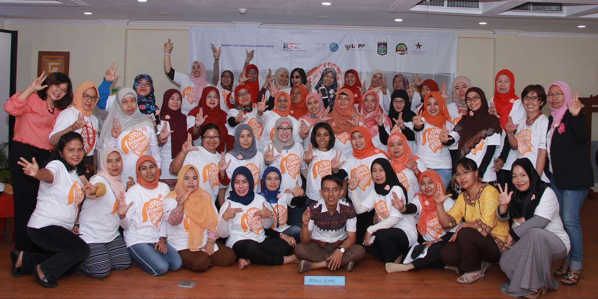 Photo: Women in training for procurement modernization activity under the MCC Indonesia Compact.