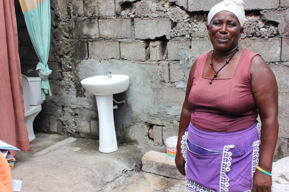Photo: Celestina is a beneficiary of an MCC-funded project in Cabo Verde that provided low-cost household connections to the water and sanitation networks.